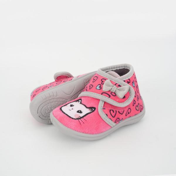 Παιδικές Παντόφλες Ροζ γατούλα
