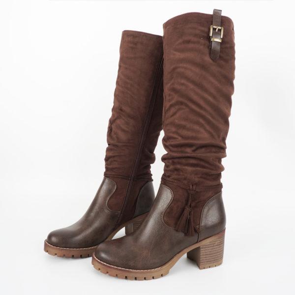 Μπότες Καφέ Ψηλές Blondie