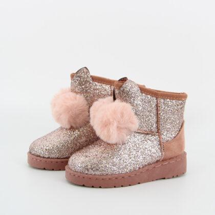 Ζεστά Παιδικά μποτάκια ροζ