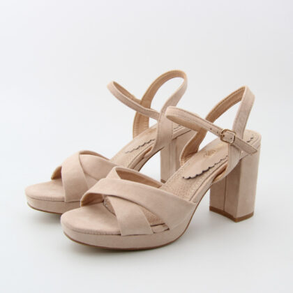 Πέδιλα suede beige fifth avenue