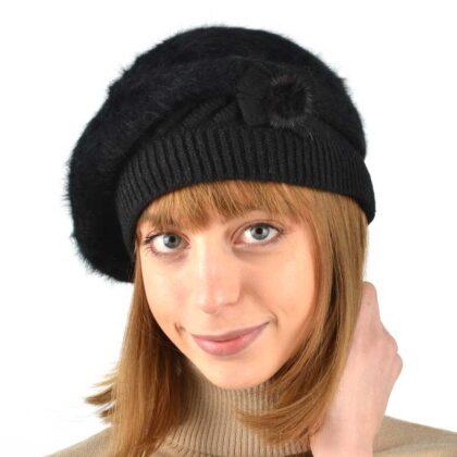 Γυναικείος Σκούφος-Μπερές μαύρο