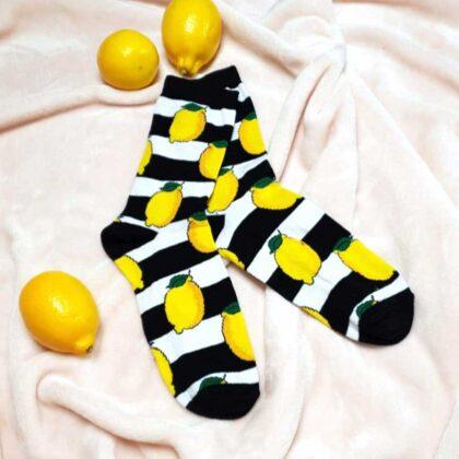 Κάλτσες με σχέδιο Lemon Χωρίς Ραφές