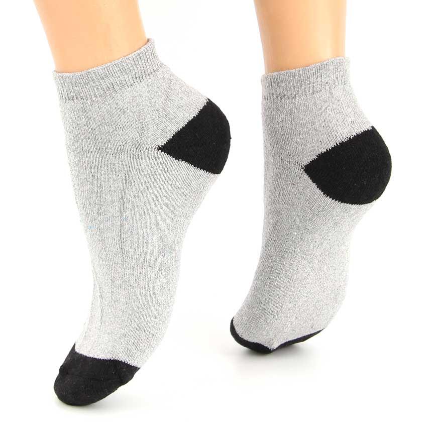 Πετσετέ Βαμβακερές Κάλτσες Γκρί