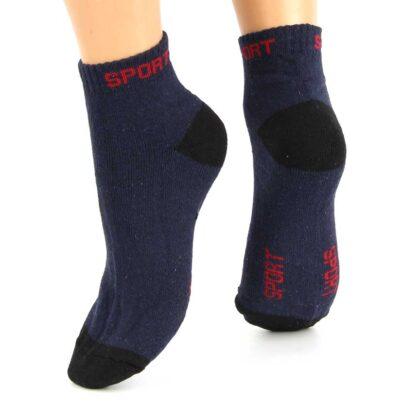 Ημίκοντες Βαμβακερές Κάλτσες Μπλέ