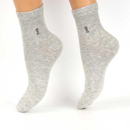 Κάλτσες Βαμβακερές με σχέδιο Γκρί