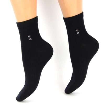 Κάλτσες Βαμβακερές με σχέδιο Σκούρο Μπλέ,
