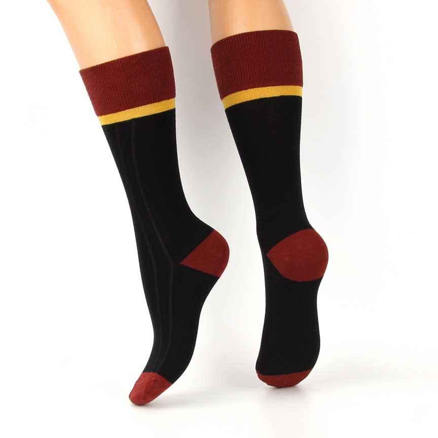 Κάλτσες Ψηλές Βαμβακερές Μαύρες