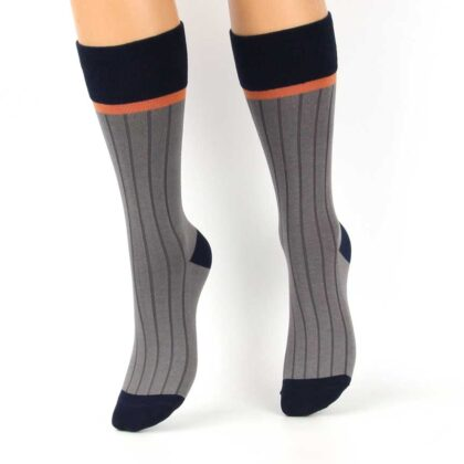 Κάλτσες Ψηλές Βαμβακερές Γκρί