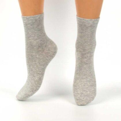 Βαμβακερές Κάλτσες ανοιχτό Γκρί