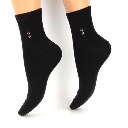 Κάλτσες Βαμβακερές με σχέδιο μαύρες