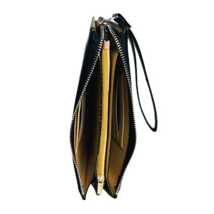 Πορτοφόλι μεγάλο μαύρο με λουράκι