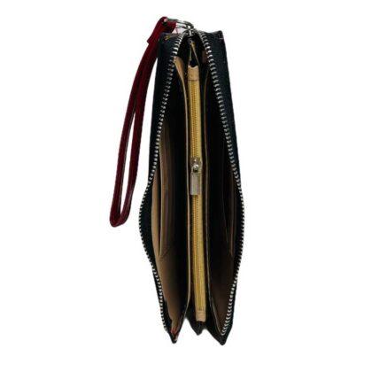 Πορτοφόλι μεγάλο κόκκινο με λουράκι