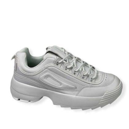 Sneakers Δίσολα λευκά Ανδρικά