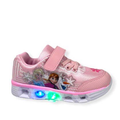 Παιδικά Frozen με φωτάκια ρόζ