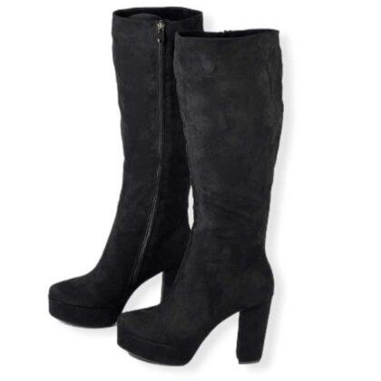 Μπότες Γυναικείες με φιάπα μαύρες.