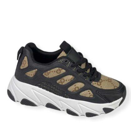 Μαύρο-Μπέζ Sneakers Κορίτσι Νο 28-35