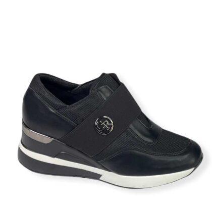 Γυναικεία Sneakers με Λάστιχο μαύρα