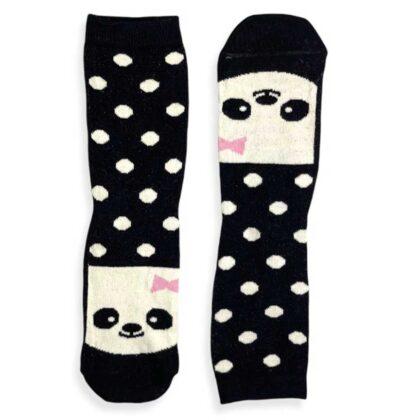 Κάλτσες VTEX socks μαύρες πουά με σχέδια