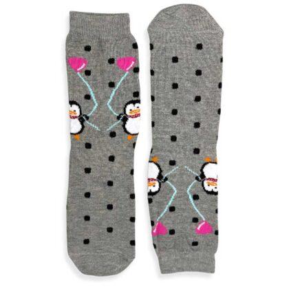 Κάλτσες VTEX socks γκρί πουά με σχέδια