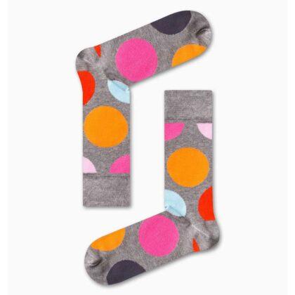 Κάλτσες Ανδρικές Vtex Γκρί με πολύχρωμους κύκλους