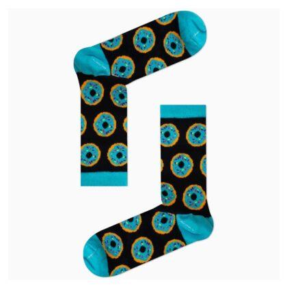Κάλτσες Unisex Μπλέ με Donuts χωρίς ραφές